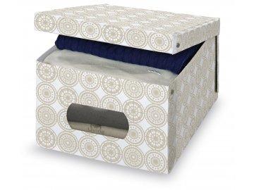 Úložný box s oknem s ornamenty