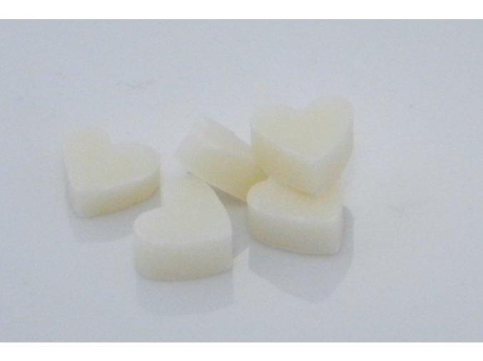 Mýdlo z ovčího mléka bílé ve tvaru srdíčka set 20ks