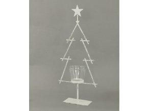 Svícen kovový na čajovou svíčku tvar stromku 50x21x8cm