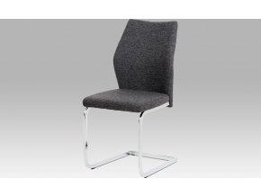 Jídelní židle látka | chrom | 45x43x92x47cm