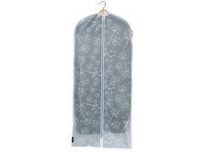 Ochranný obal na šaty s uzavíráním na zip s květinami