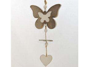 Dřevěný dekorační motýl 2