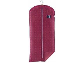 Ochranný obal na šaty s uzavíráním na zip růžový