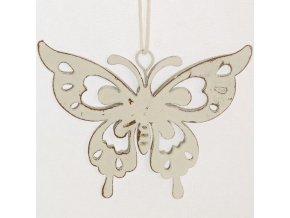 Kovoví dekorační motýli