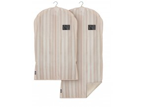 Ochranný obaly na oblek a šaty s uzavíráním na zip set 2ks