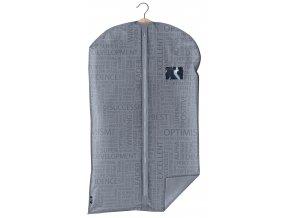 Ochranný obal na oblek s uzavíráním na zip šedý