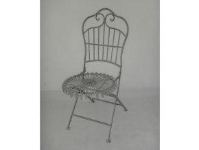 Židle kovová barva šedá