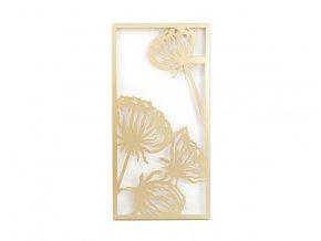 Nástěnná dekorace květy 60x30x2cm