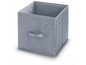 Úložný box s poutkem šedý