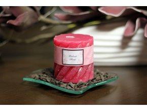Svíčka vonná | vůně růže | 230g vosku | doba hoření 35hod