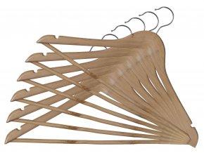 Dřevěná ramínka set 6ks