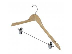 Dřevené ramínko s klipem