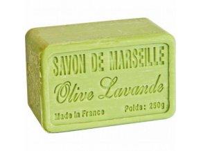 Mýdlo francouzské přírodní OLIVA LEVANDULE 250g
