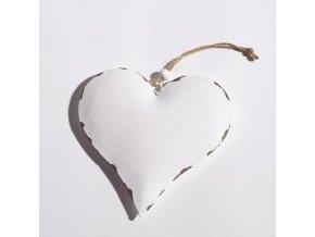 Srdce bílé na zavěšení