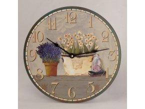 Hodiny nástěnné | květiny | 30cm