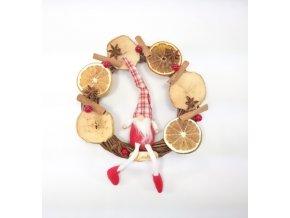 Podzimní věnec | dekorační | 23cm