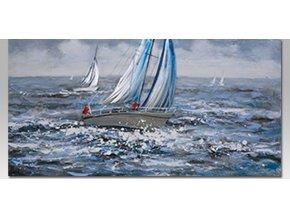 Obraz na plátně | olejomalba | ručně malovaný | Plachetnice