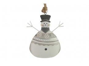 vanocni dekorace snehulak s
