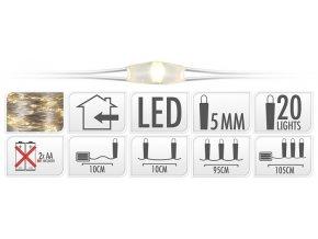 Vánoční osvětlení na drátku | 20 LED