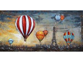 Obraz ručně malovaný | kovový |  létající balony