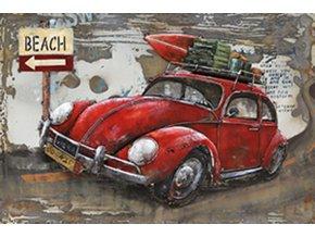 Obraz ručně malovaný | kovový| cesta na pláž