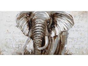 Obraz na plátně | olejomalba | ručně malovaný | Slon