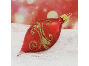 ST červený dekor spirály oliva