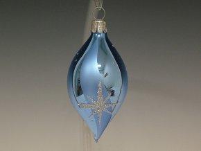 ST oliva světle modrá hvězda