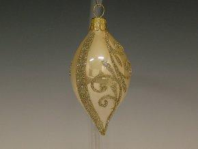 ST krémový porcelán zlaté spirály