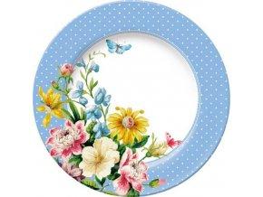 Dezertní porcelánový talíř English Garden | modrý