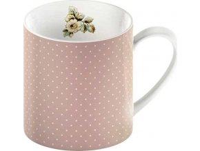 Porcelánový hrnek Pink Spots Cottage Flower