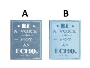 Dřevěná cedule | Be a voice | 20x24cm