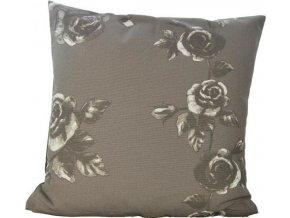 Bavlněný polštář Grey Flower
