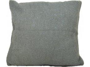 Pletený polštář Grey Silver