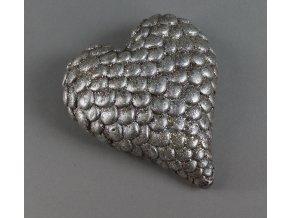 Srdce se stříbrnými glitry