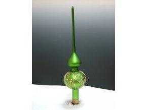 ST zelený mat zlaté spirály