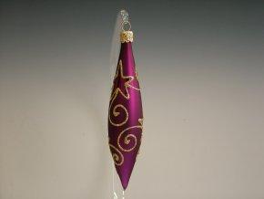 ST fialový mat hvězdné spirály