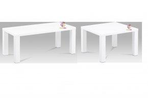 Konferenční stolek bílý | vysoký lesk