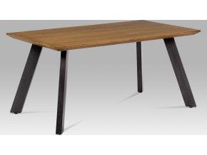 Jídelní stůl | dýha dub | broušený kov