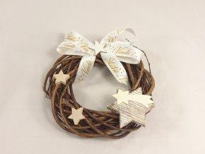 Vánoční věnec | dekorační | hvězdičky|20cm