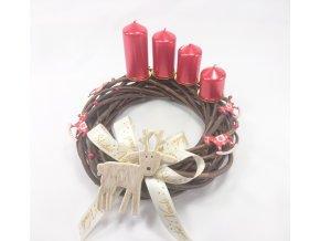 vánoční věnec adventní | adventní svíčky kaskáda | sob