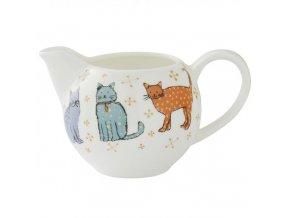 Porcelánová konvice na čaj s kočkami