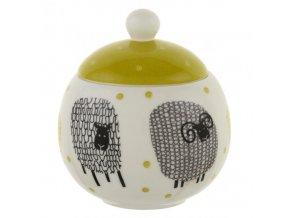Porcelánová cukřenka Dotty Sheep 10x11,5 cm