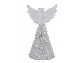 Skleněný anděl|stříbrný|5x9cm