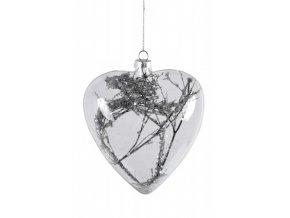 Skleněné srdce|s větvičkou