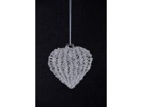 Skleněné srdce|s korálky