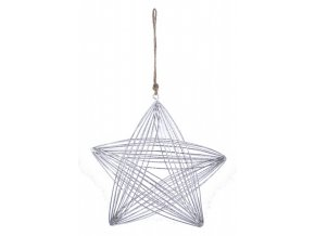 Drátěná hvězda|stříbrná|k zavěšení