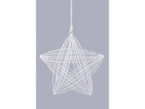 Drátěná hvězda|bílá|k zavěšení