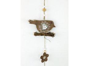Ptáček | dřevěná dekorace na zavěšení