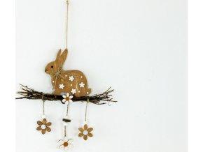 Zajíček | dřevěná dekorace na zavěšení